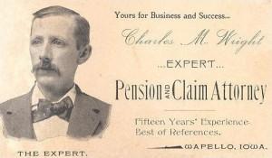 Biglietto da visita del 1895
